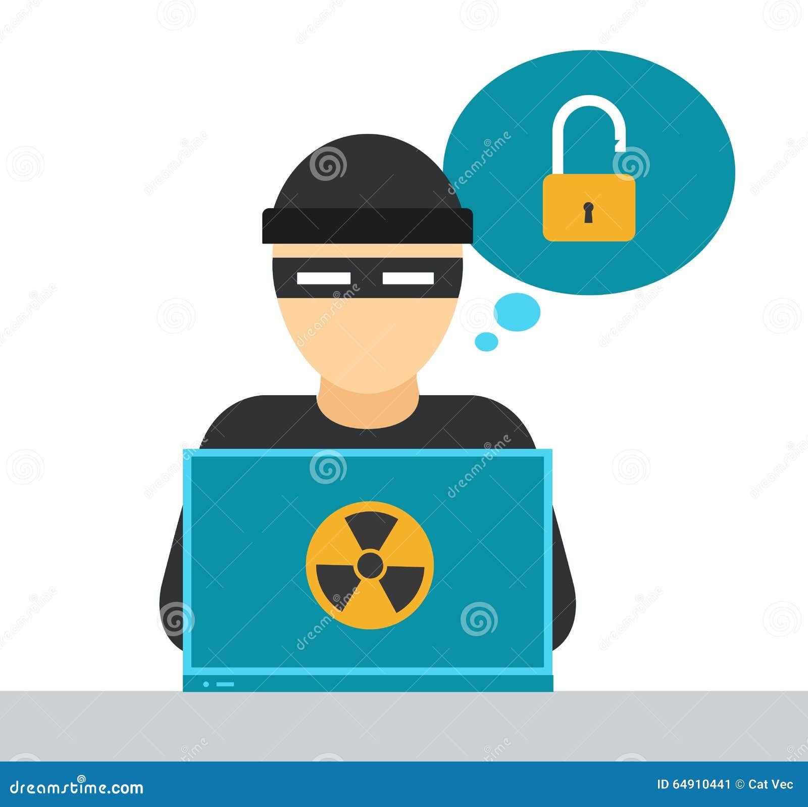 internet security vector illustration stock vector image computer virus clip art free Sick Computer Clioart