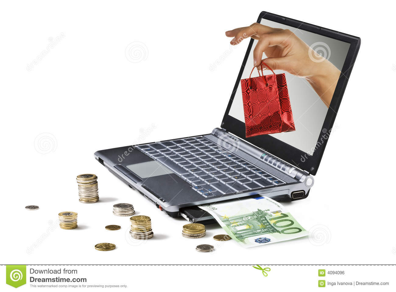 Internet Shopping Stock Photo Image Of International