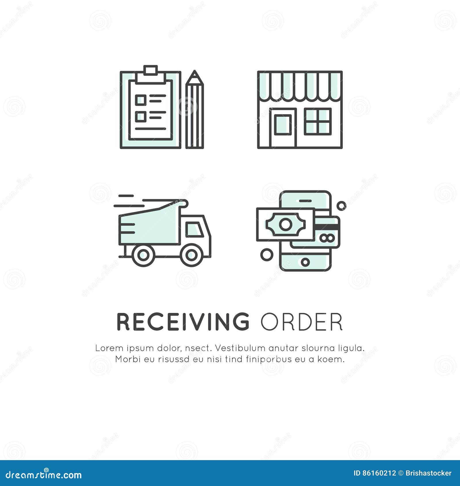 truck symbols vector illustration