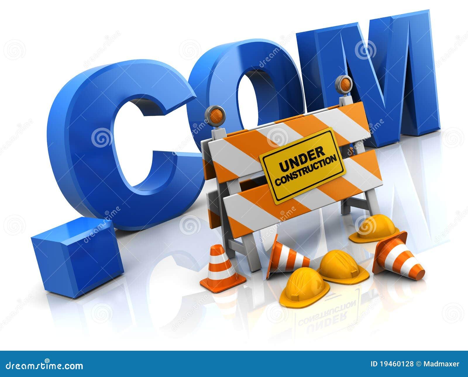 Internet Site Under Construction Stock Illustration Illustration