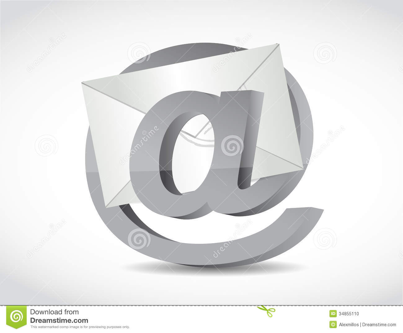 At internet symbol and email illustration