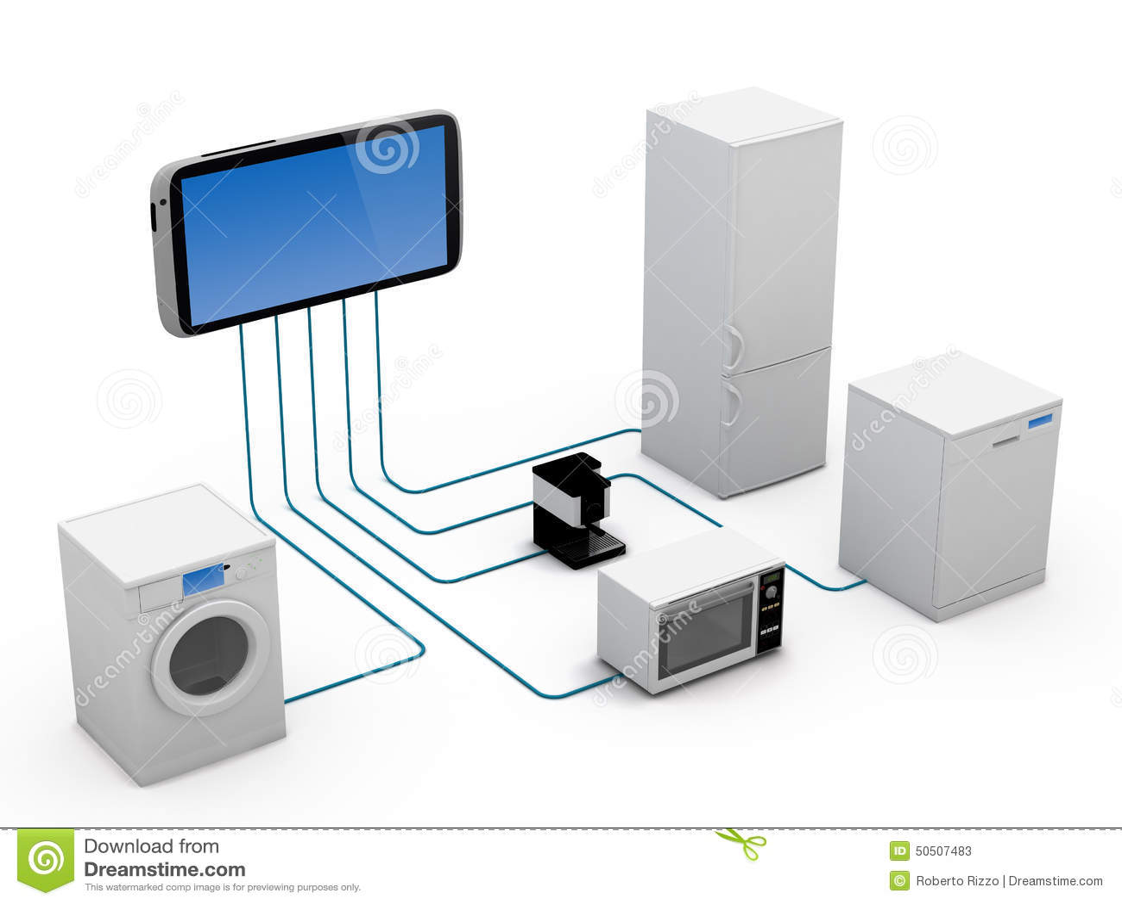 internet of things concept stock illustration image 50507483. Black Bedroom Furniture Sets. Home Design Ideas