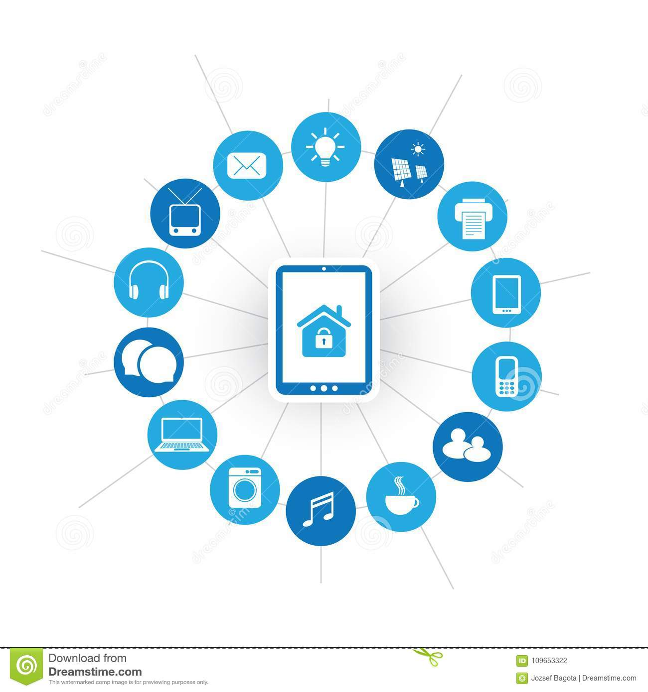 Internet Of Things, Digital Home And Networks System Design Concept ...