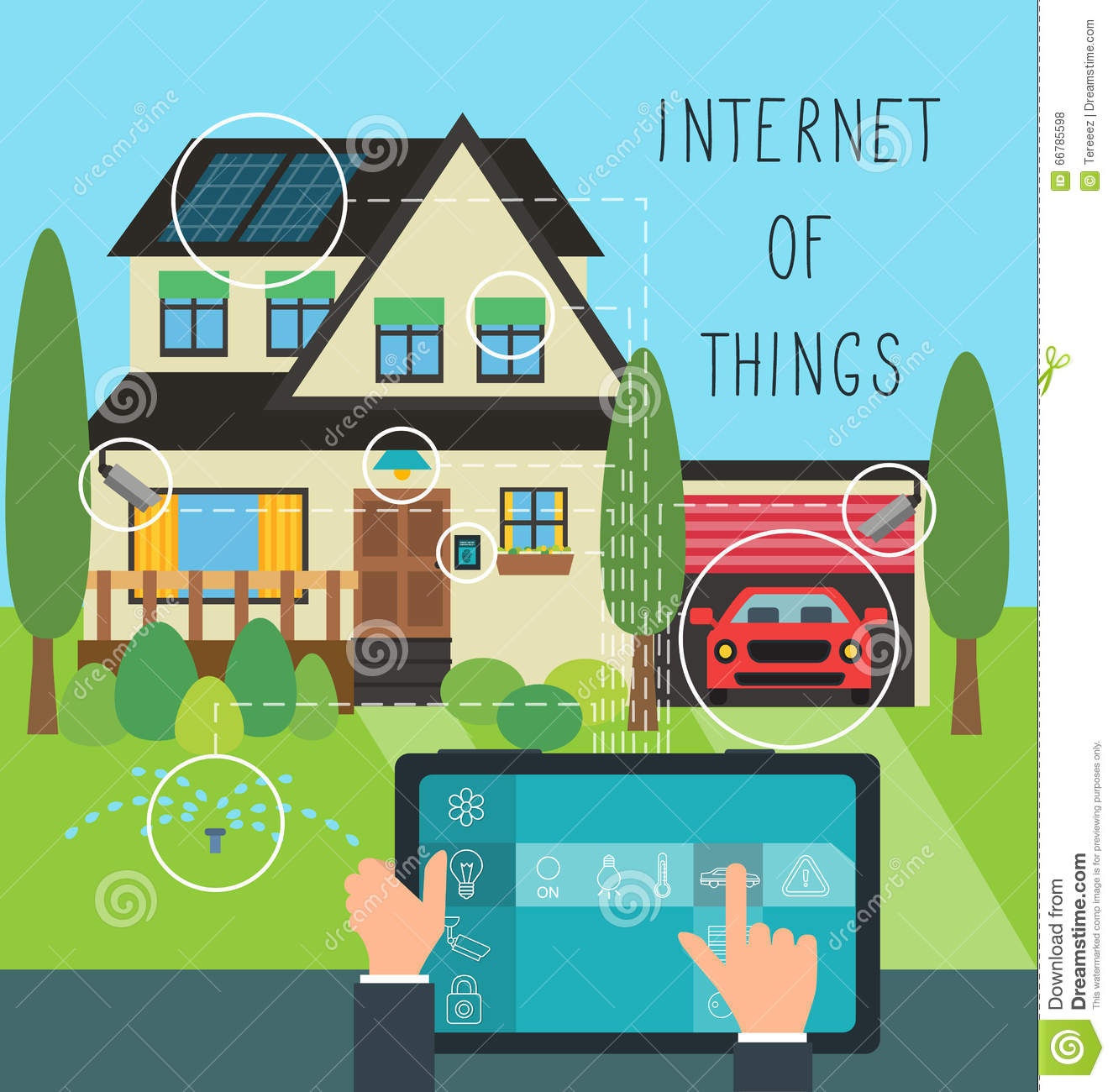 Internet of things at home stock vector image 66785598 for Modern things for home