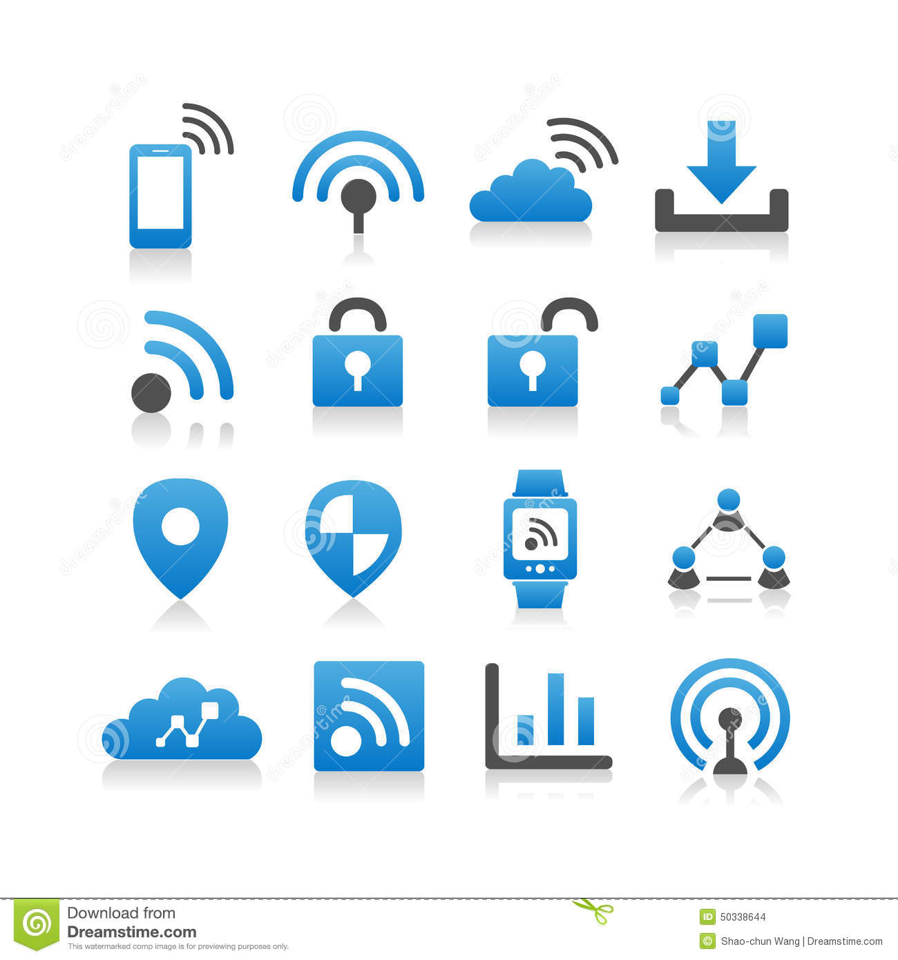 Internet Of Things Icon Stock Vector Illustration Of