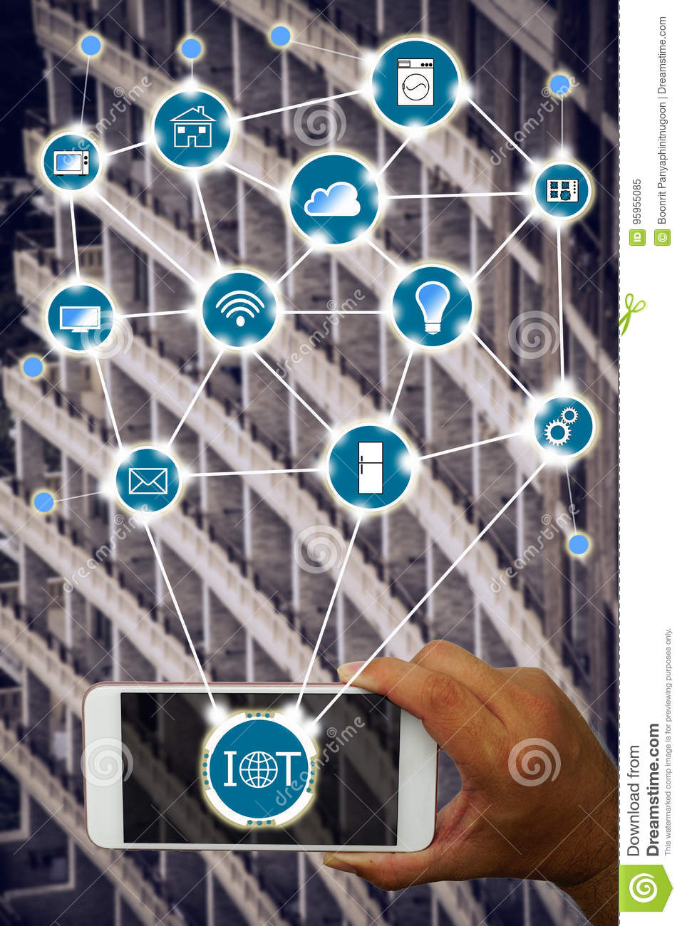 Internet of things IOT concept