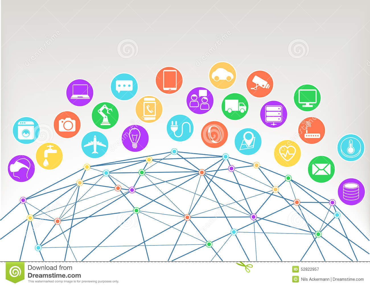 Simple internet of things icon set symbols for iot with flat design internet of things iot illustration backgroundicons symbols for various connected devices biocorpaavc Images