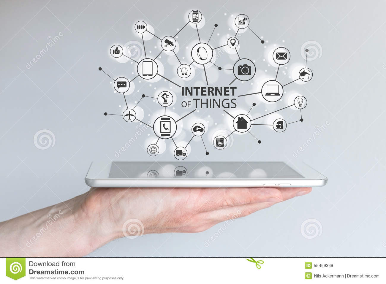Internet Of Things (IOT) And Mobile Computing Concept
