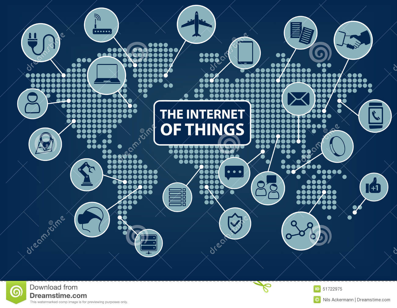 Internet of things iot word and icons with globe and world map internet of things iot word and icons with globe and world map royalty free gumiabroncs Images
