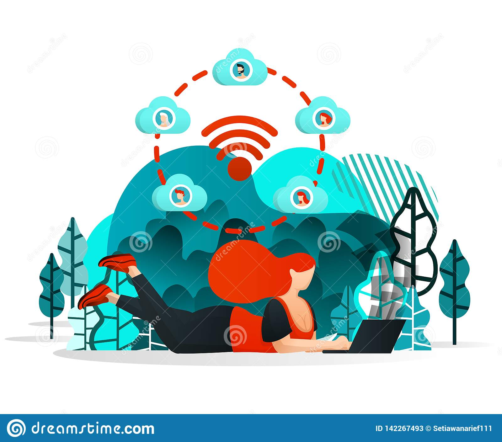 Wifi Cartoon Stock Illustrations 4 840 Wifi Cartoon Stock Illustrations Vectors Clipart Dreamstime