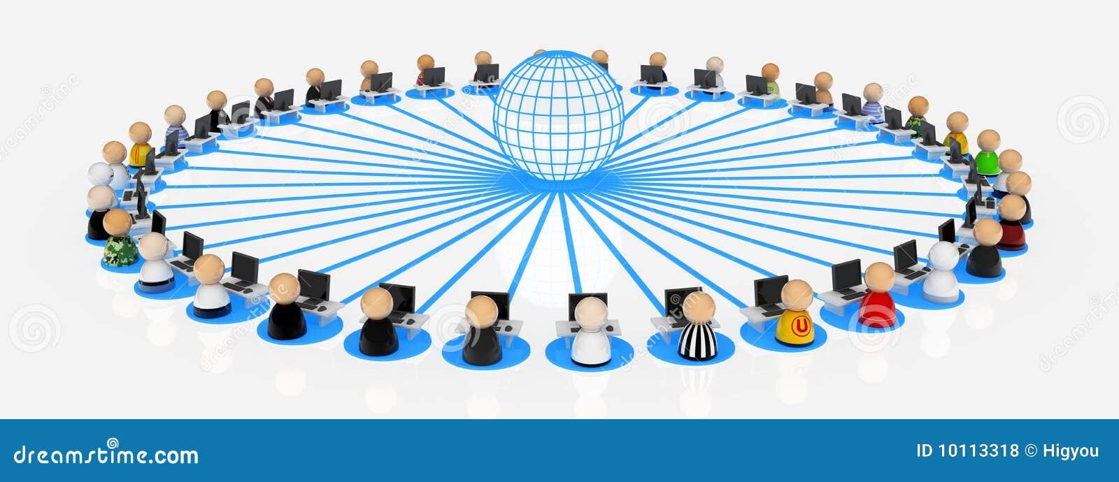 Internet Users stock illustration. Illustration of link ...