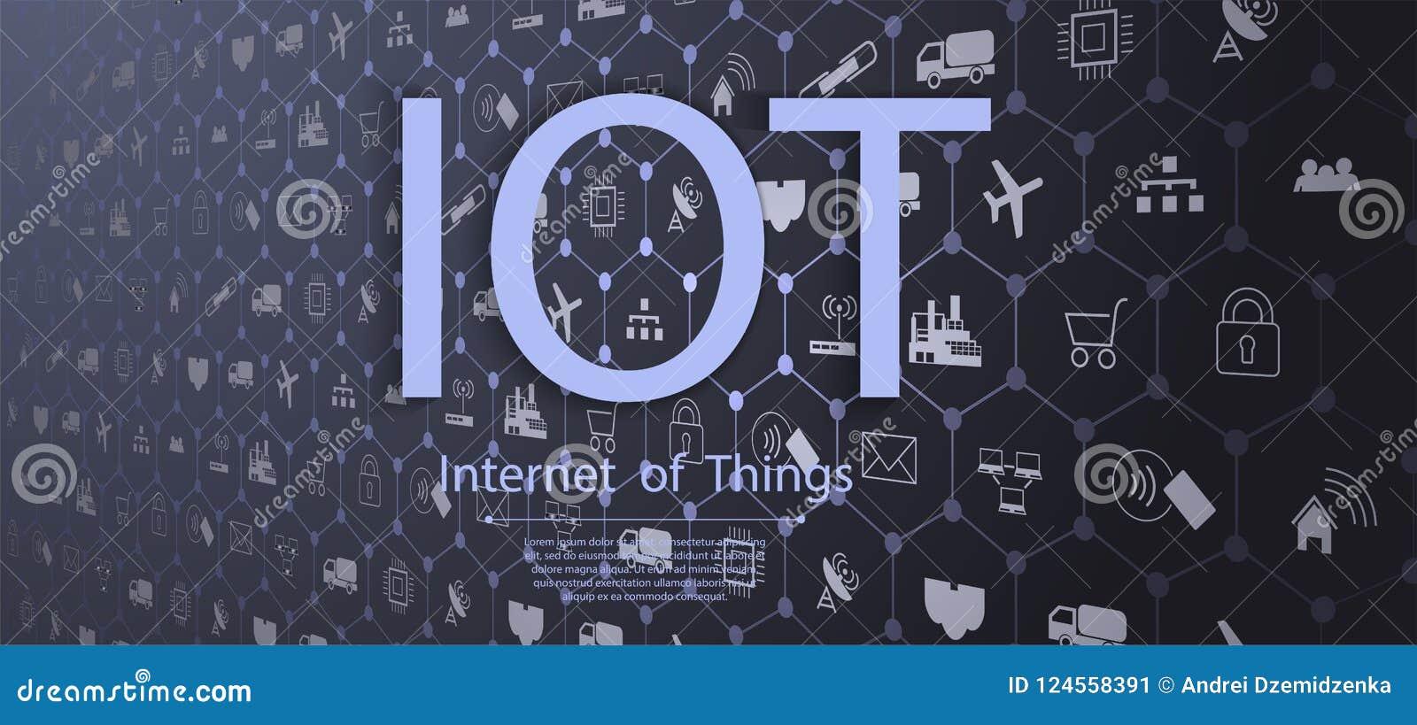 Internet van dingen IOT, apparaten en connectiviteitsconcepten op een netwerk, wolk op centrum