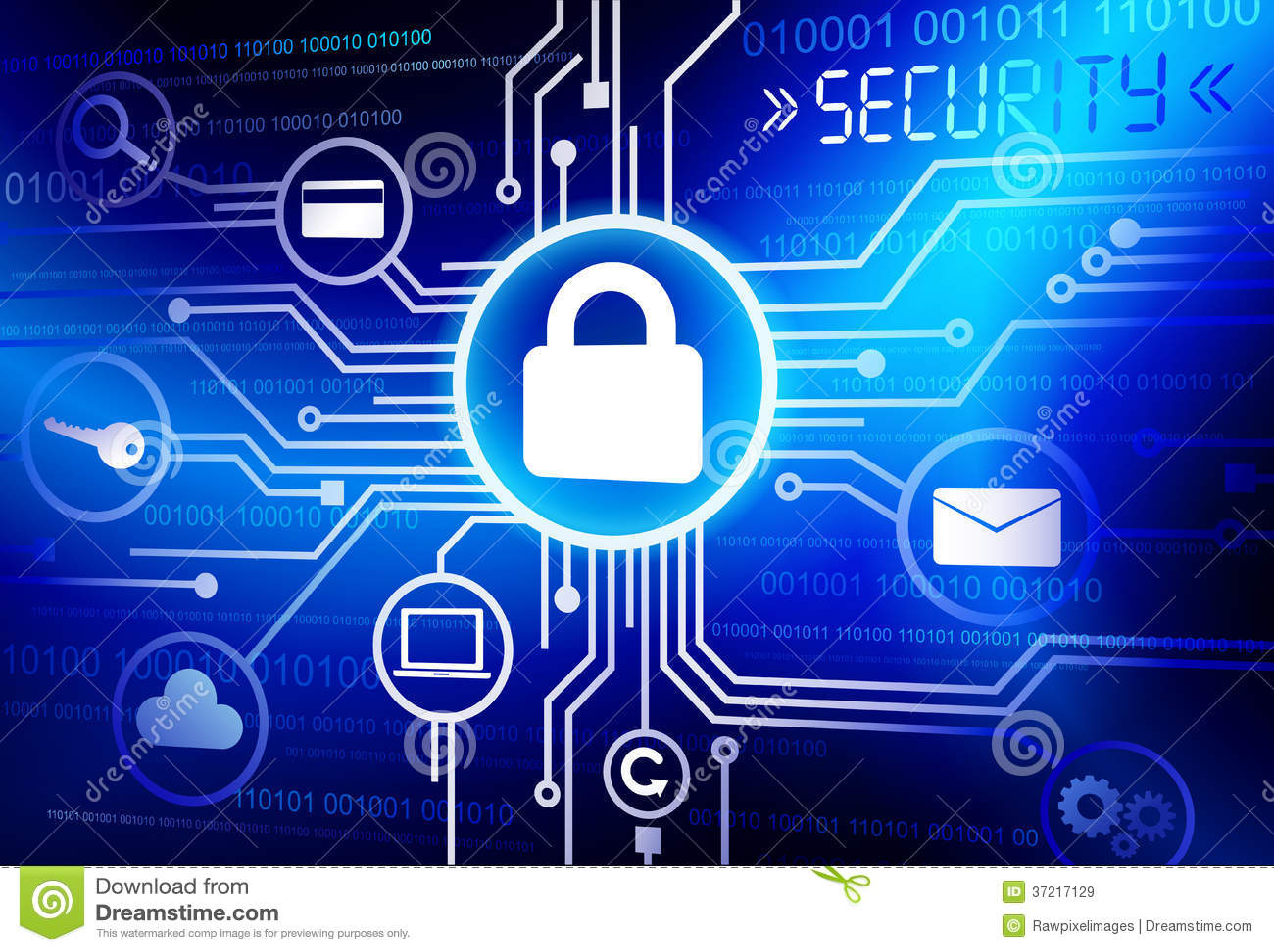 Internet-Veiligheidssystemenvector