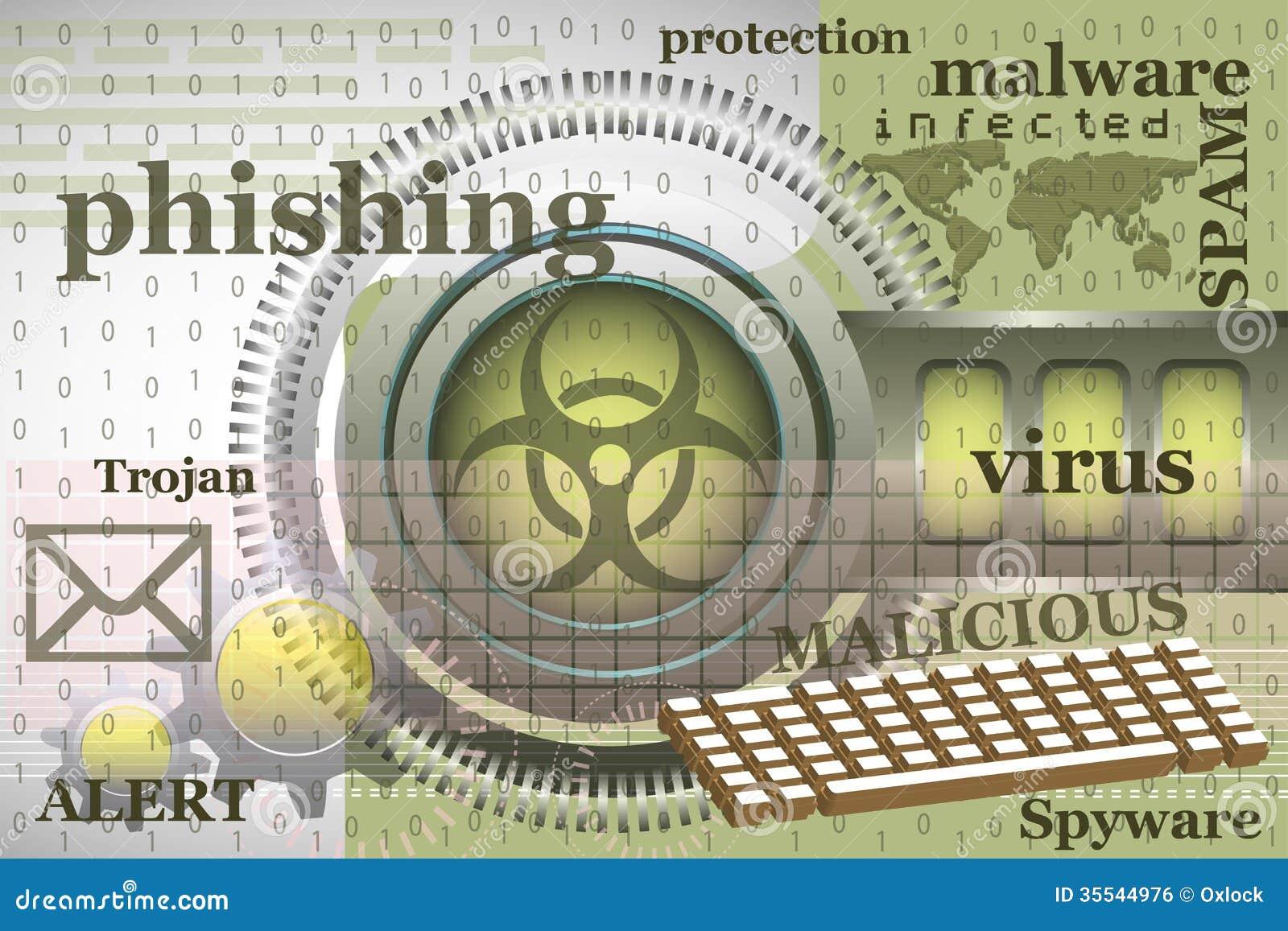 Internet Virus Stock Vector Illustration Of Illustration 35544976