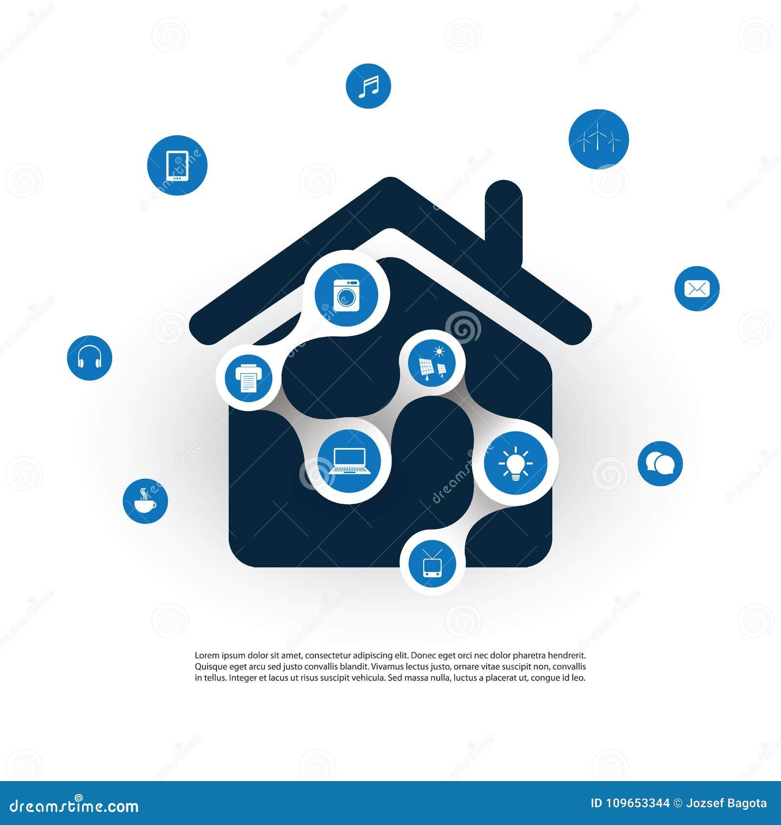 Internet Von Sachen, Von Digital-Haus Und Von Netzgestaltungs ...