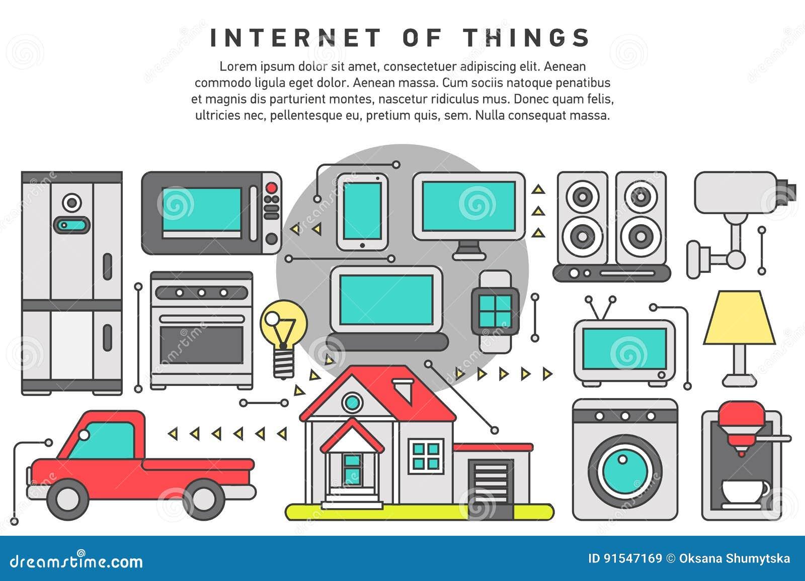 Internet Von Sachen Iot Haus Vektor Abbildung - Illustration von ...