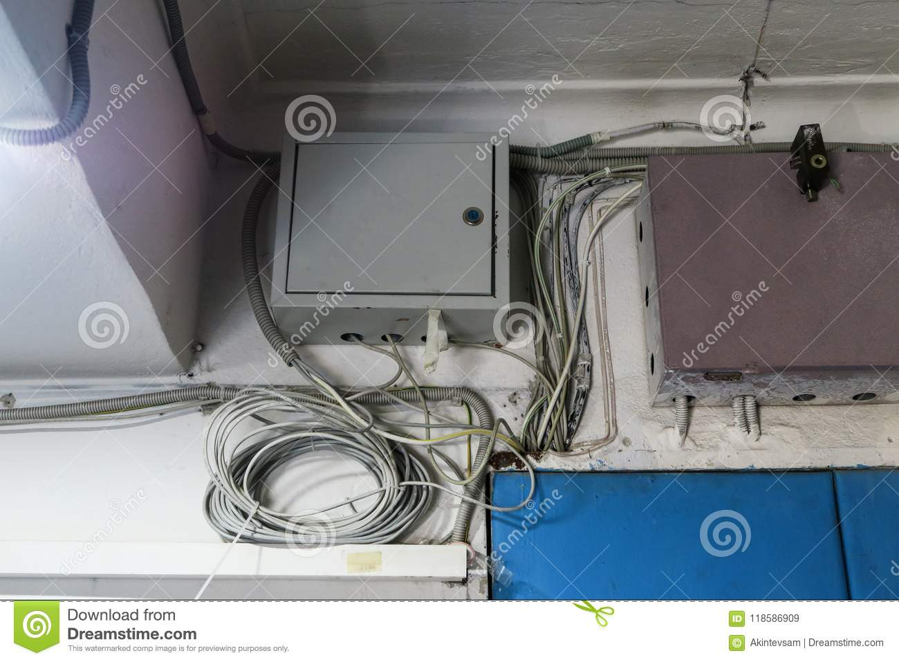 Brilliant Internet Wires Metal Box With Equipment For The Internet Under Lock Wiring 101 Capemaxxcnl