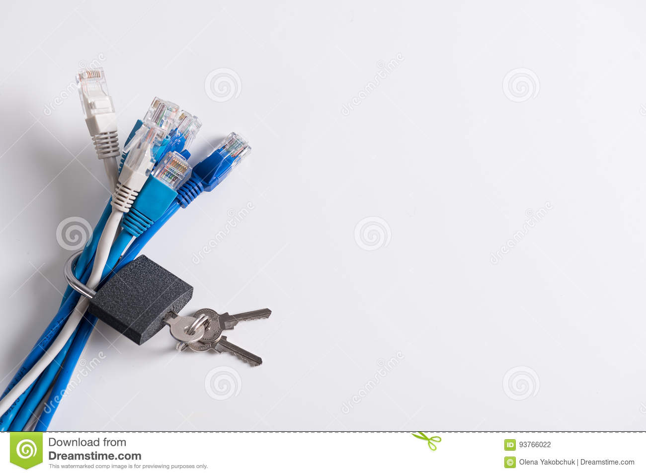 Internet Wires With Silver Coupling On It Stock Photo - Image of ...