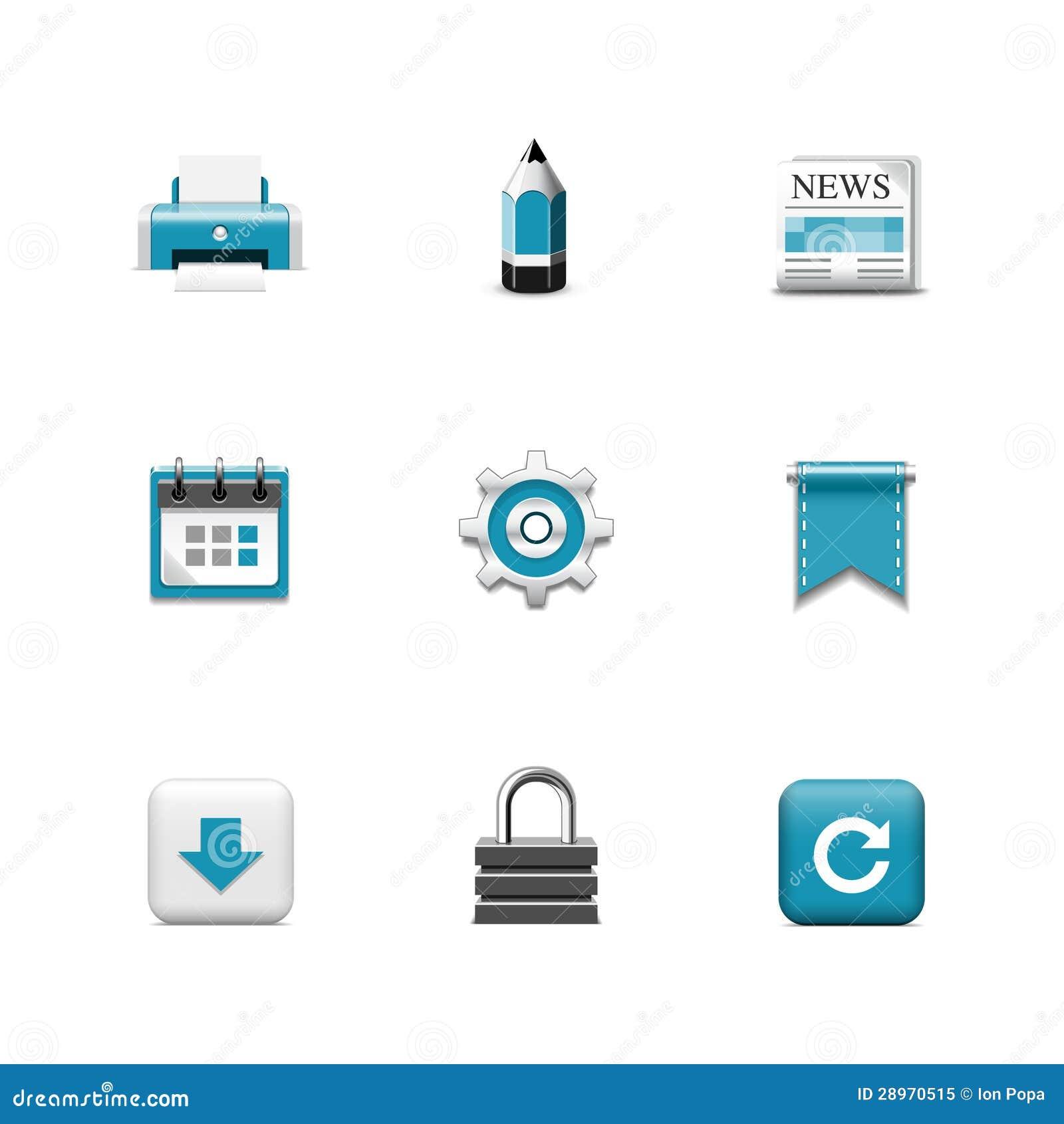 Internetowe ikony. Azzuro serie
