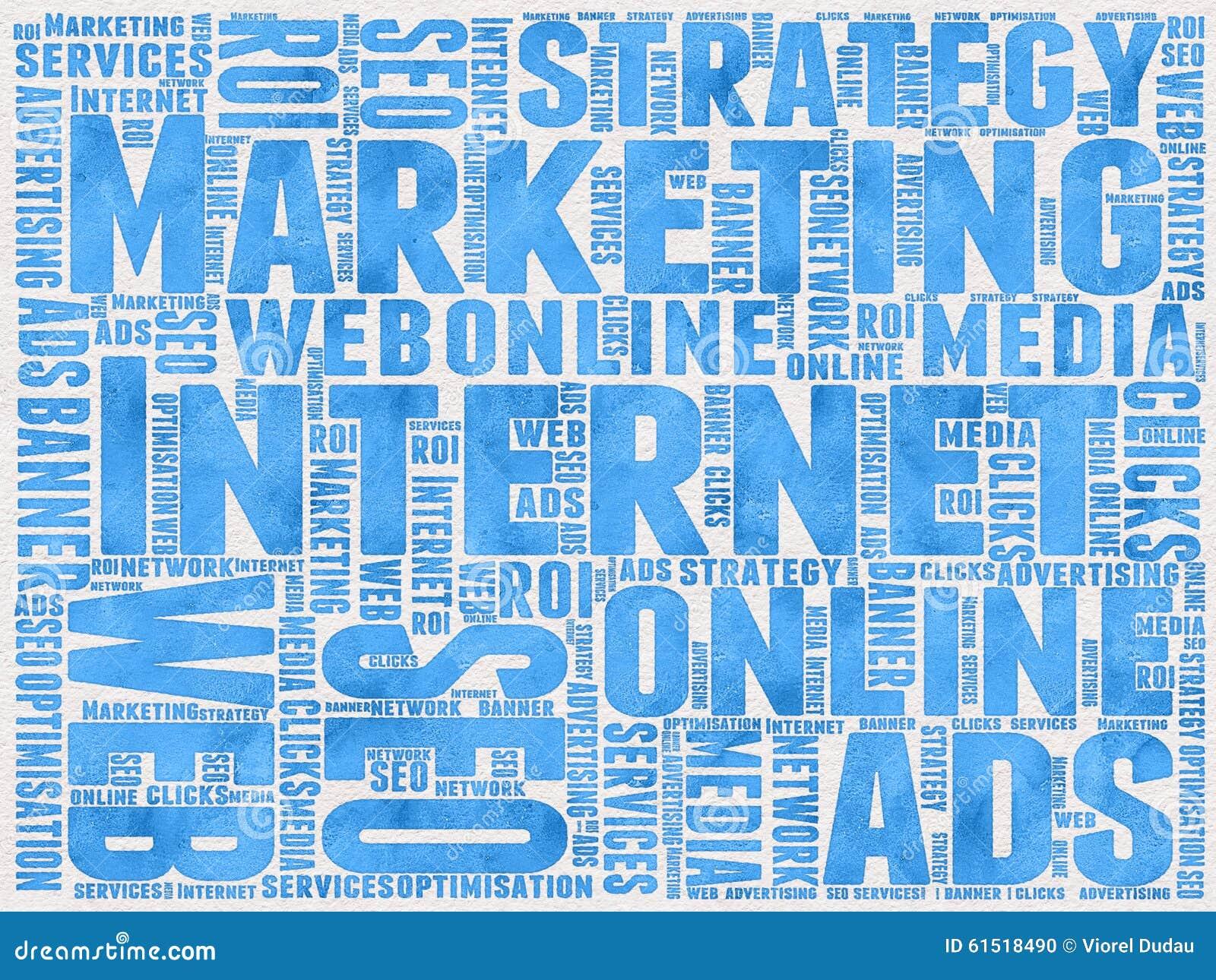 Internetowy Marketingowy tło