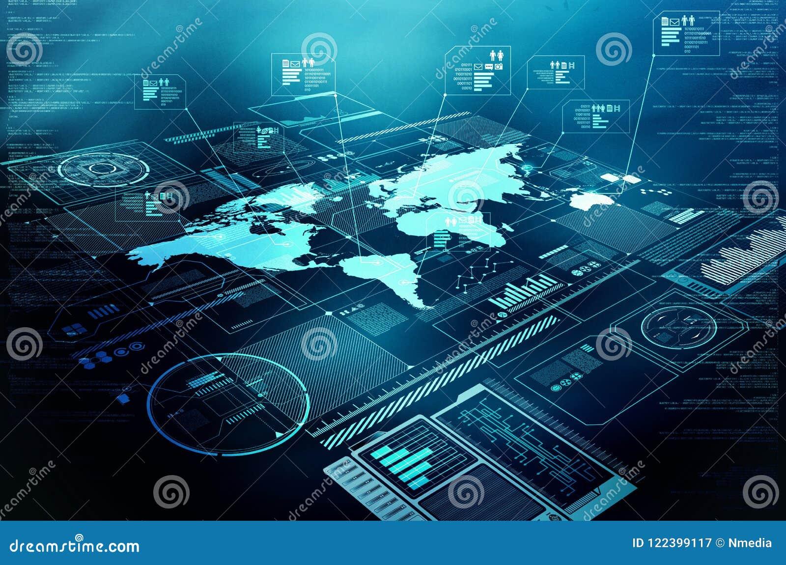 Internetowy technologie informacyjne pokaz