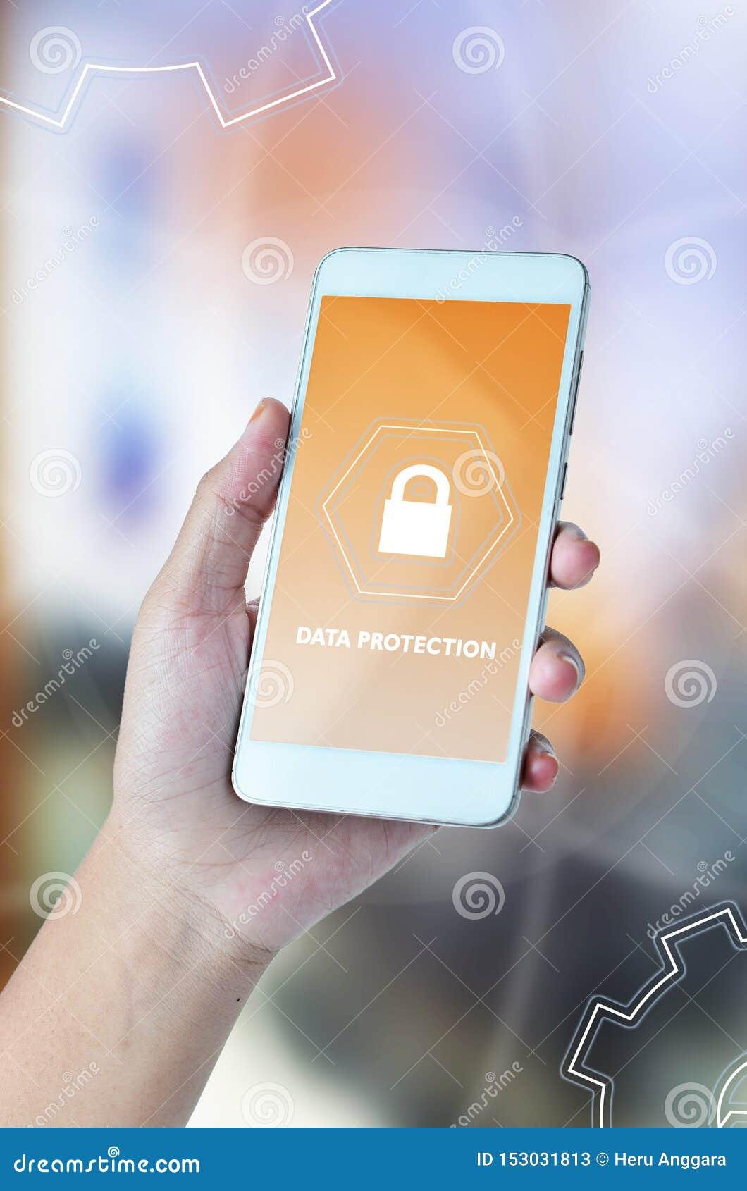 Internetsicherheits-, Datenschutz, Informationssicherheit und Verschl?sselung Internet-Technologie und Gesch?ftskonzept Schreiben