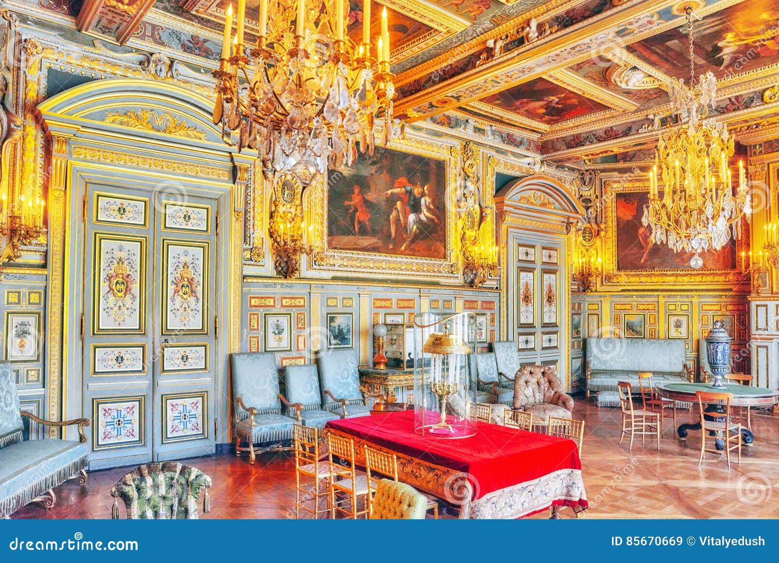 Interni del palazzo di fontainebleau il salone di louis for Interni salone