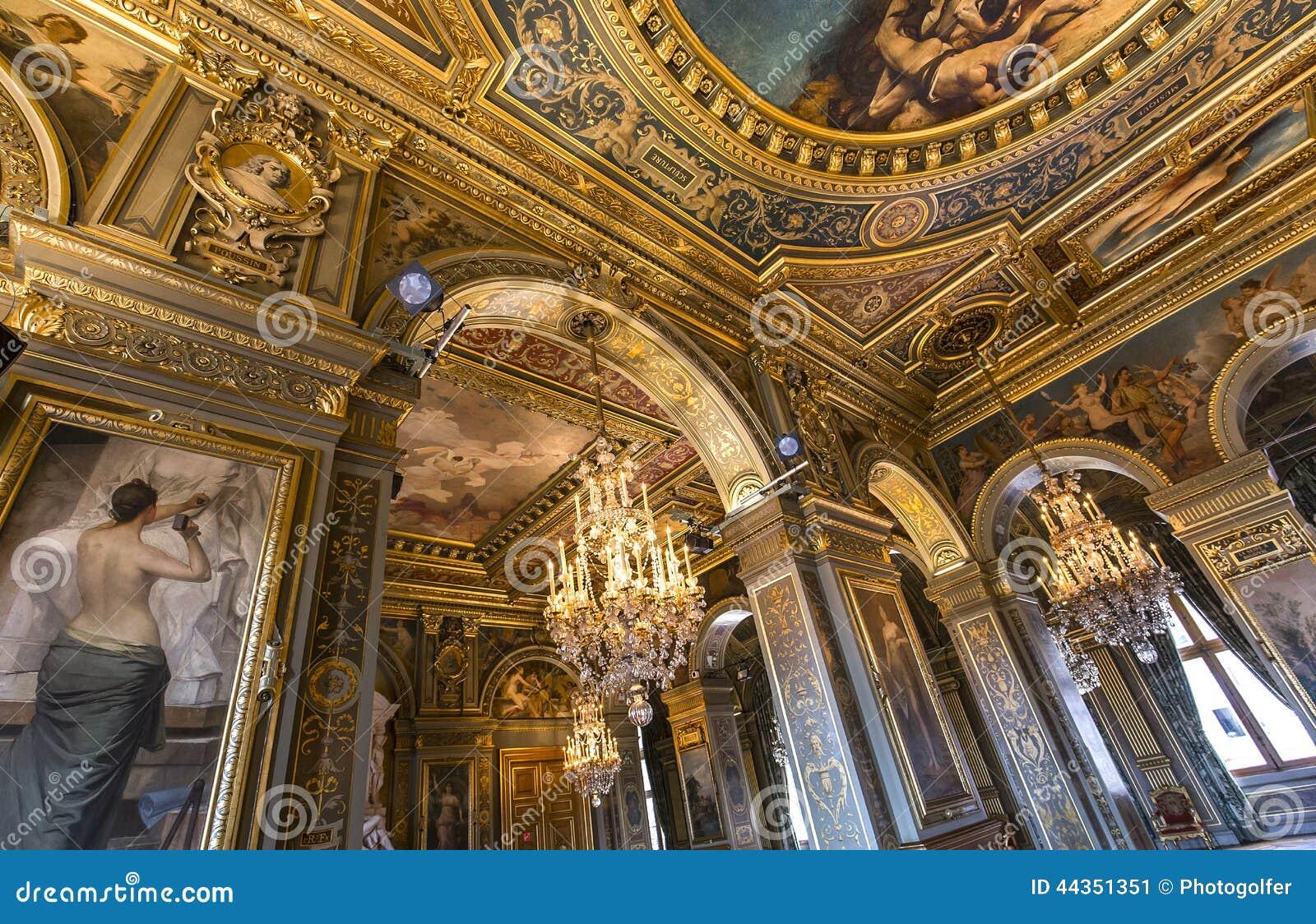 Interni di Royal Palace, Bruxelles, Belgio
