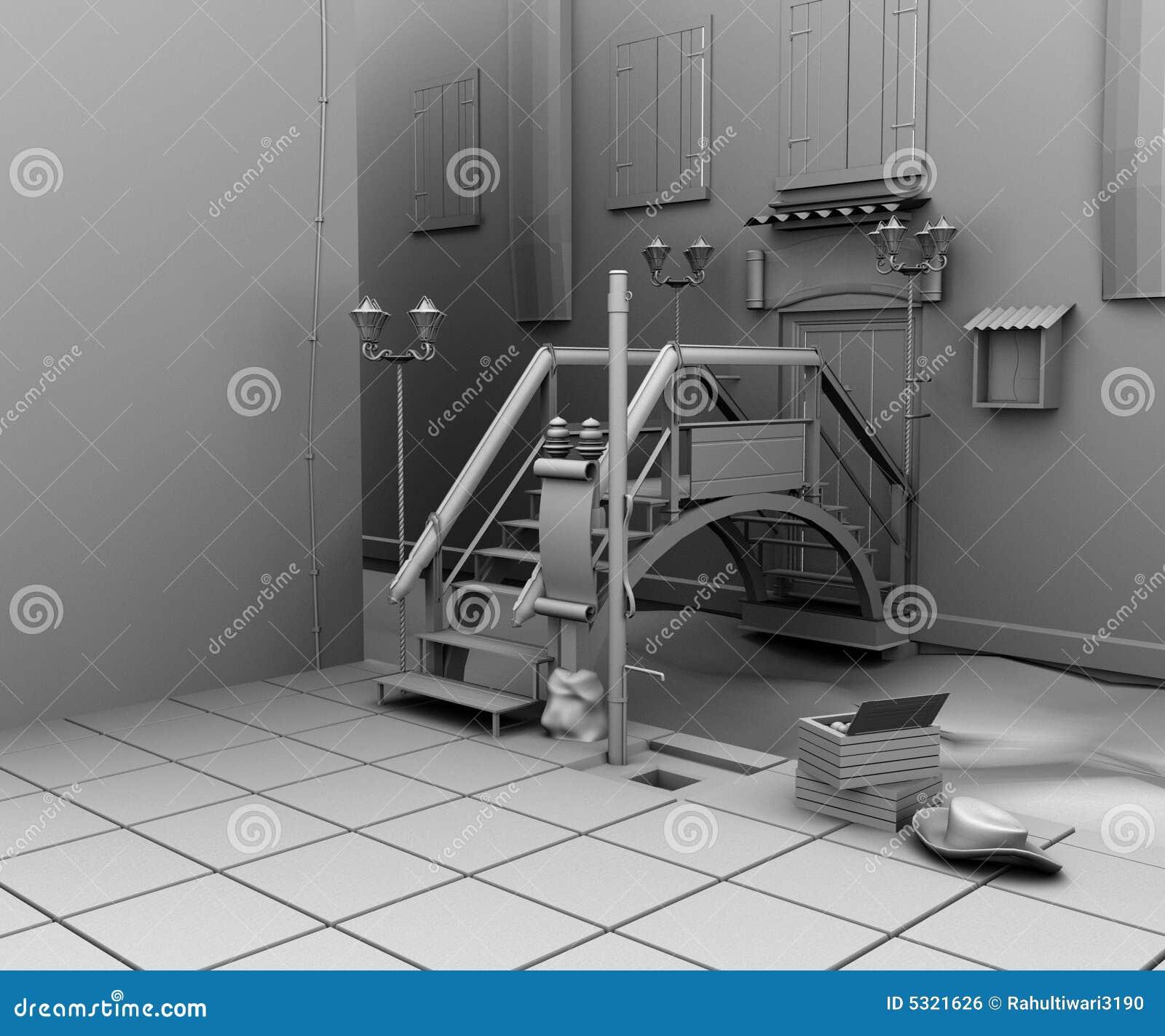 Download Interno illustrazione di stock. Illustrazione di architettura - 5321626