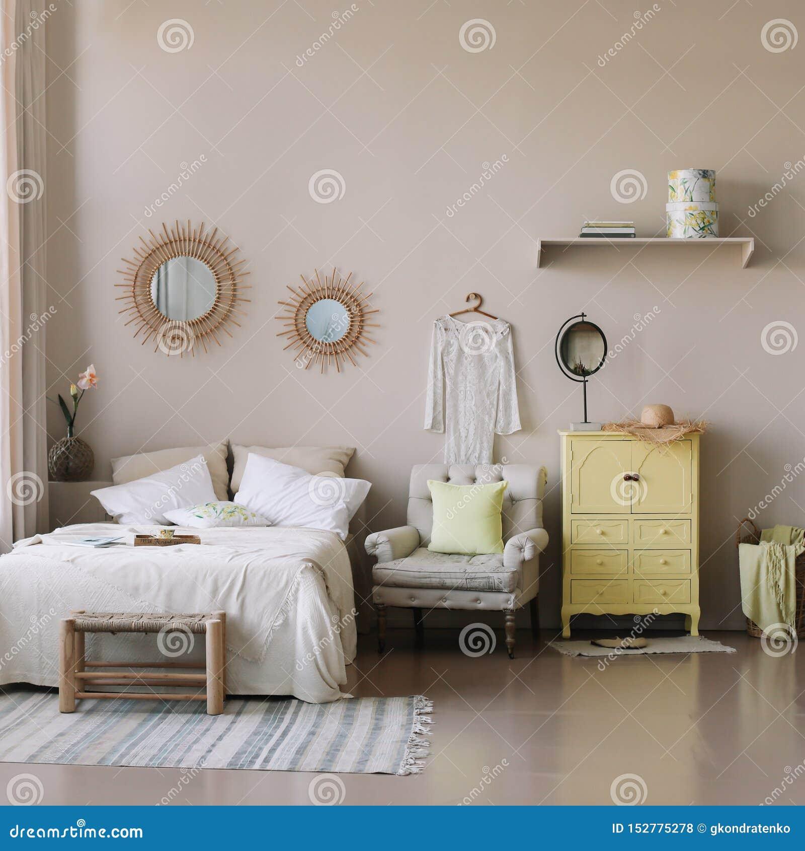 Decorazioni Camera Da Letto interno accogliente moderno scandinavo ampio letto con i