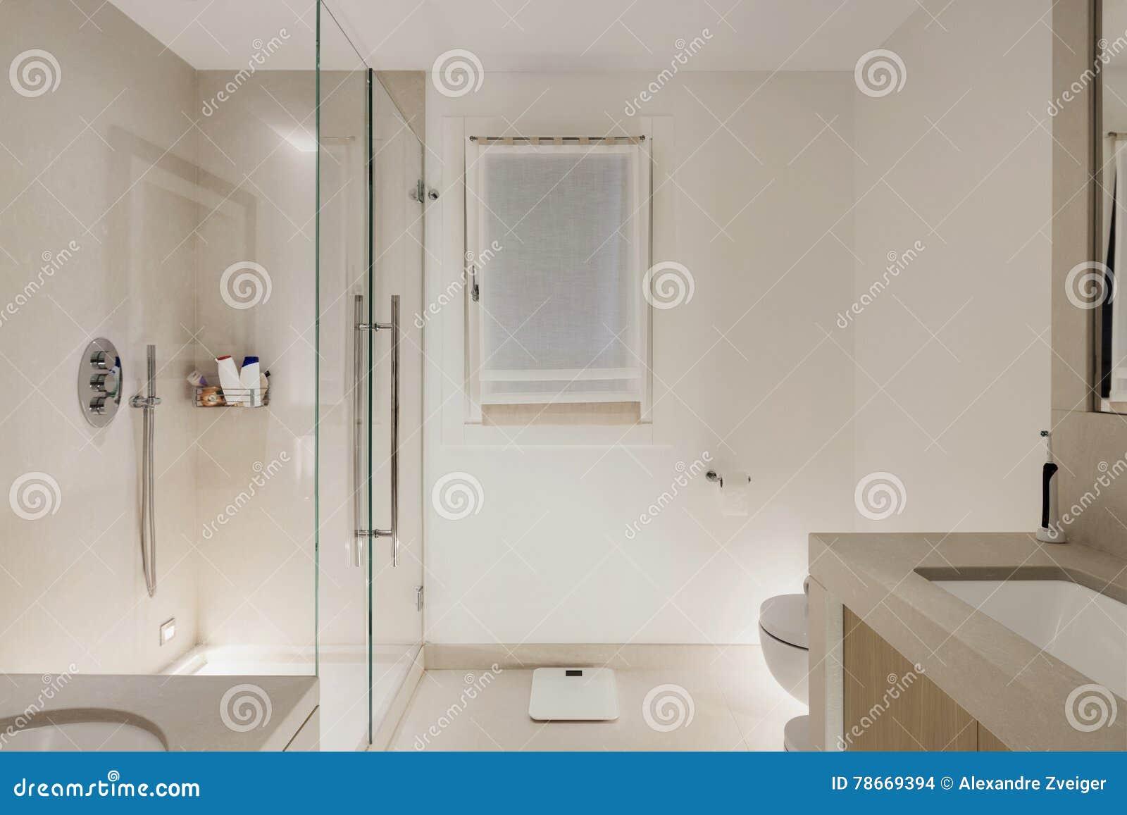 Download interno bagno moderno bianco fotografia stock immagine di disegno with disegni di bagni - Disegni bagni moderni ...