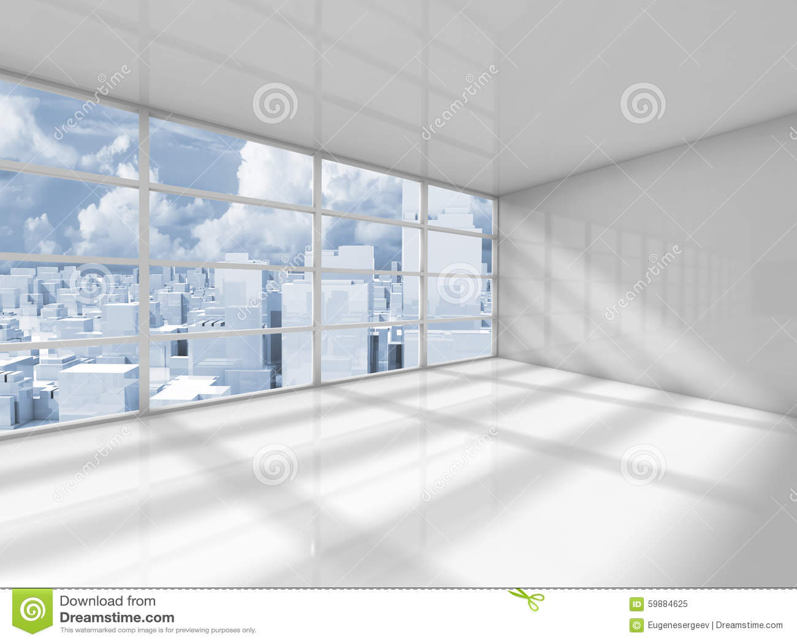 Interno bianco astratto di una stanza vuota dell 39 ufficio for Stanza uso ufficio