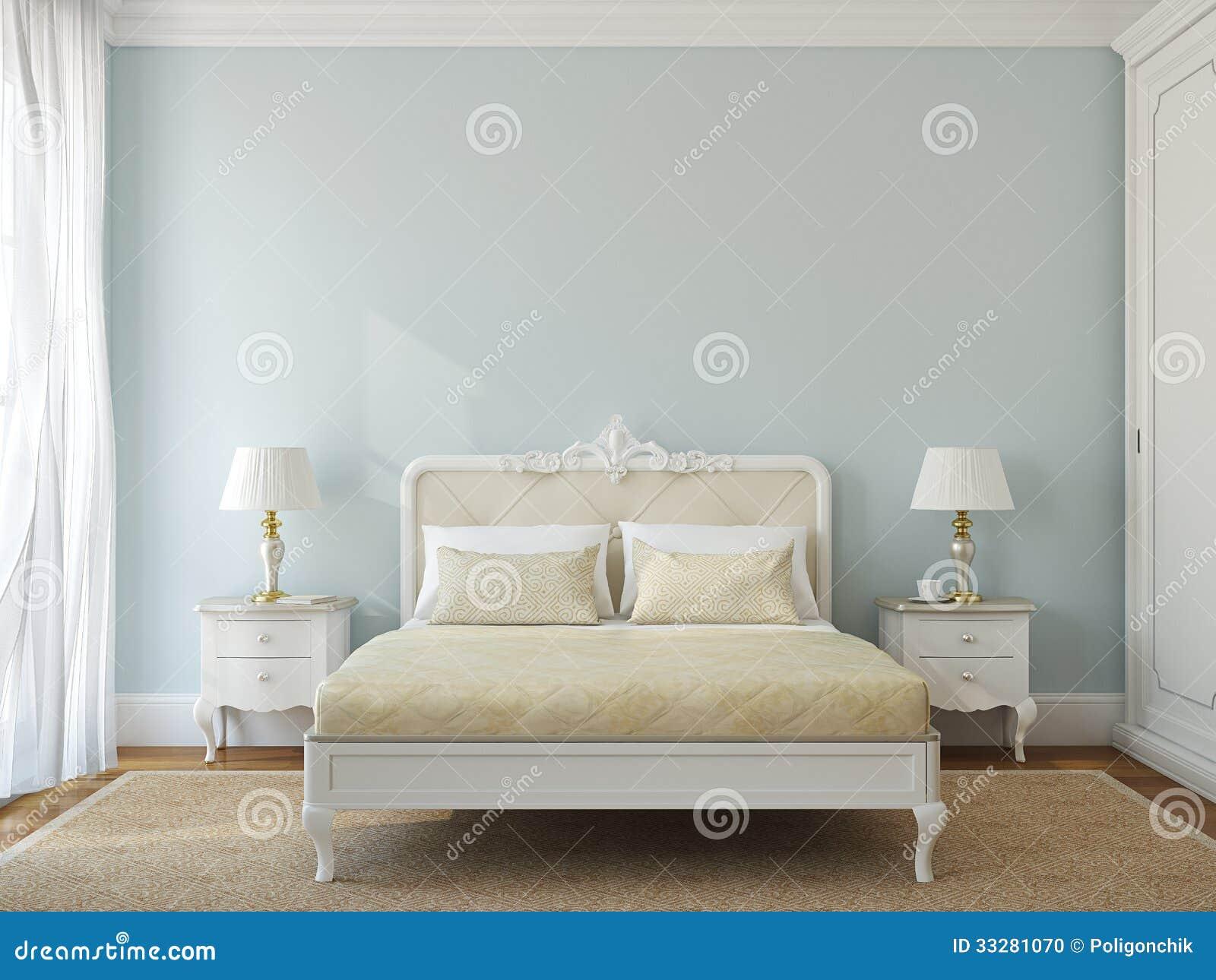 Interno classico della camera da letto illustrazione di - Camera da letto classico moderno ...