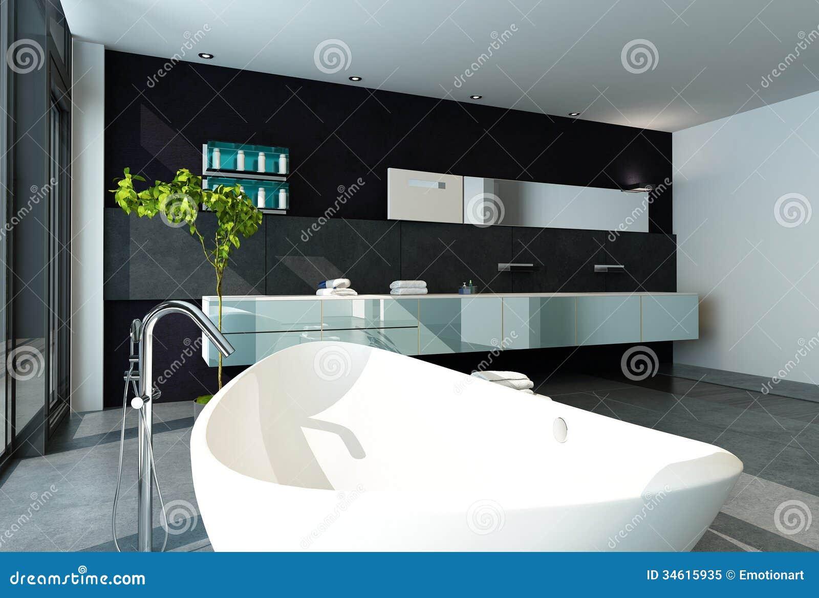 Progettare Il Bagno Di Casa : Interno contemporaneo del bagno di progettazione nel colore nero