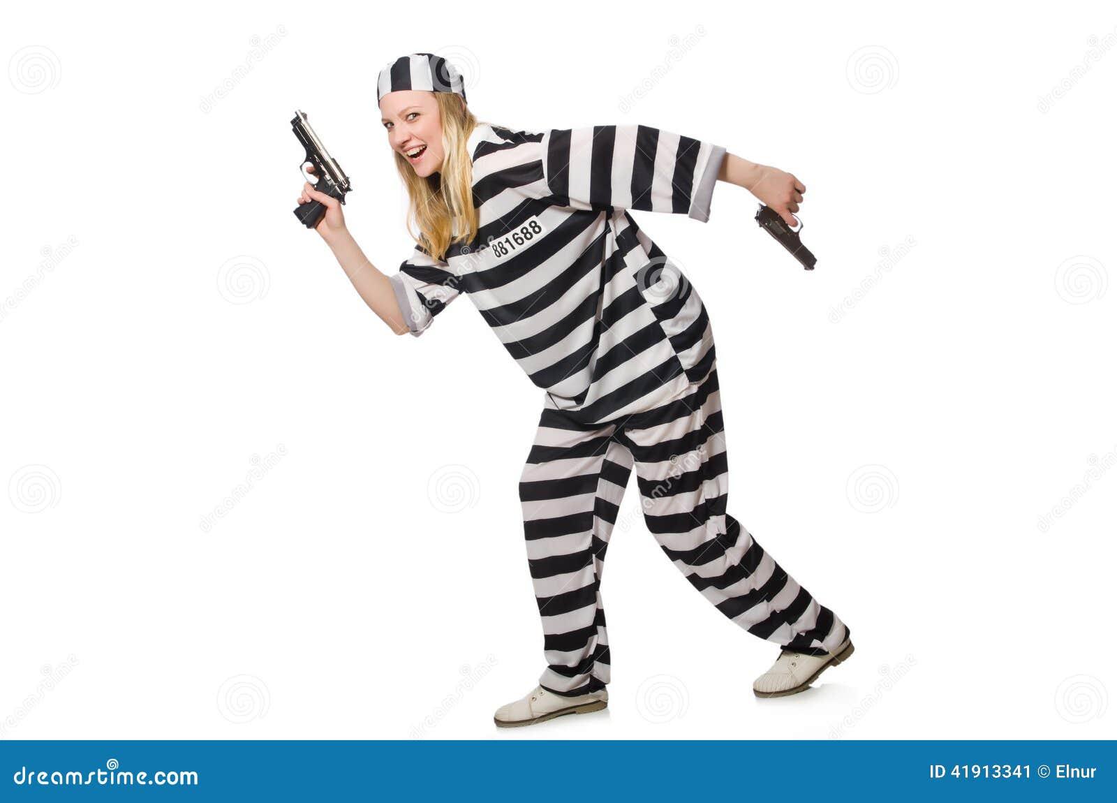 Interno de la prisión con el arma aislado