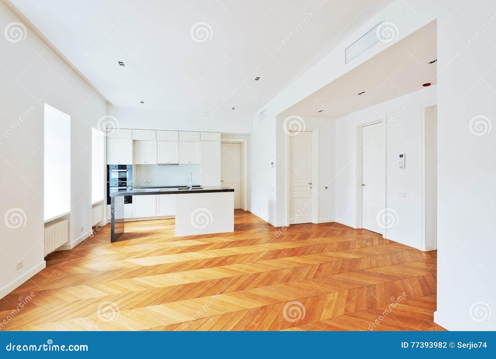 Interno Degli Appartamenti Di Lusso Di Prestigio Con La Cucina ...