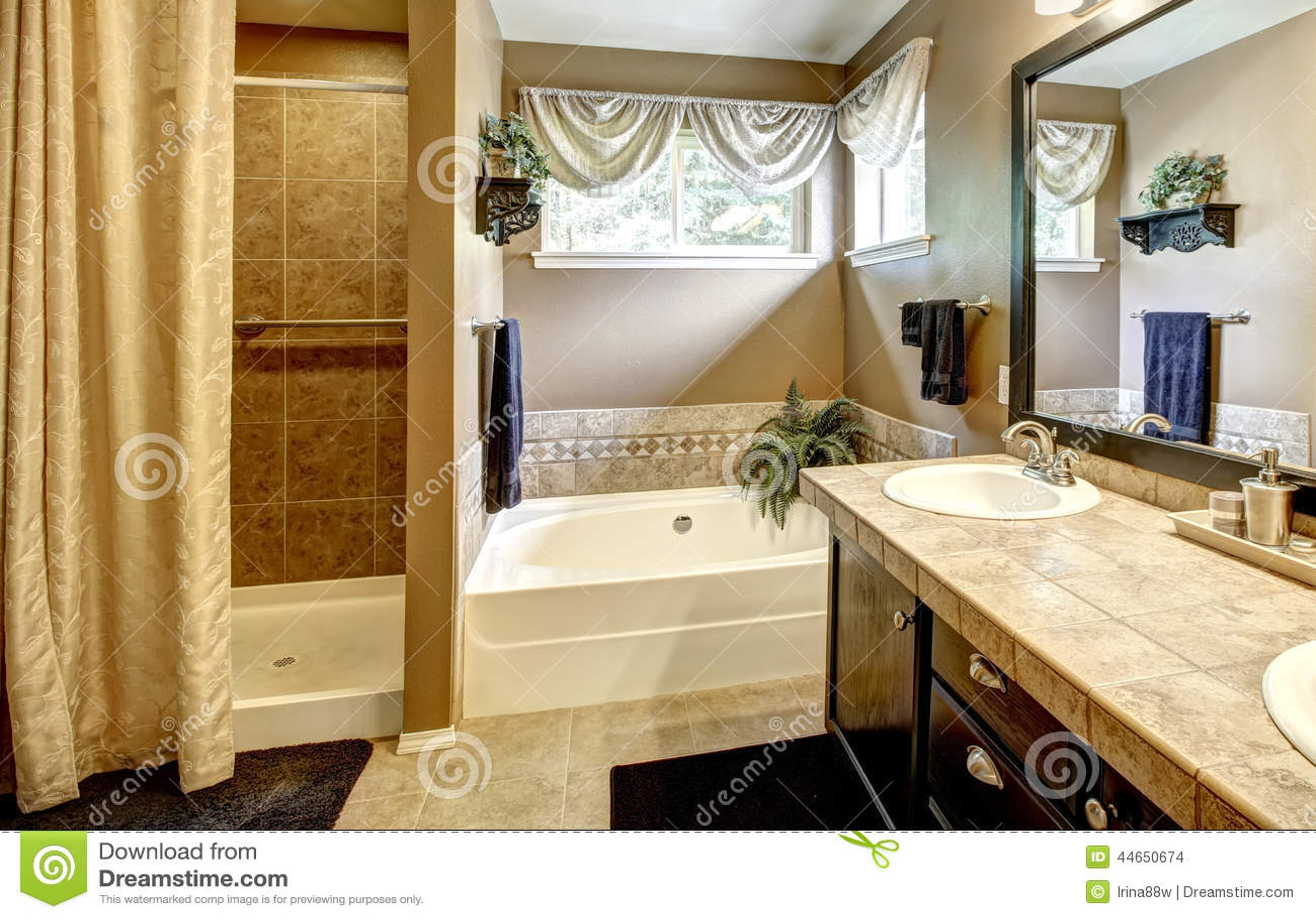 Interno del bagno con la disposizione delle mattonelle for Mattonelle interno casa