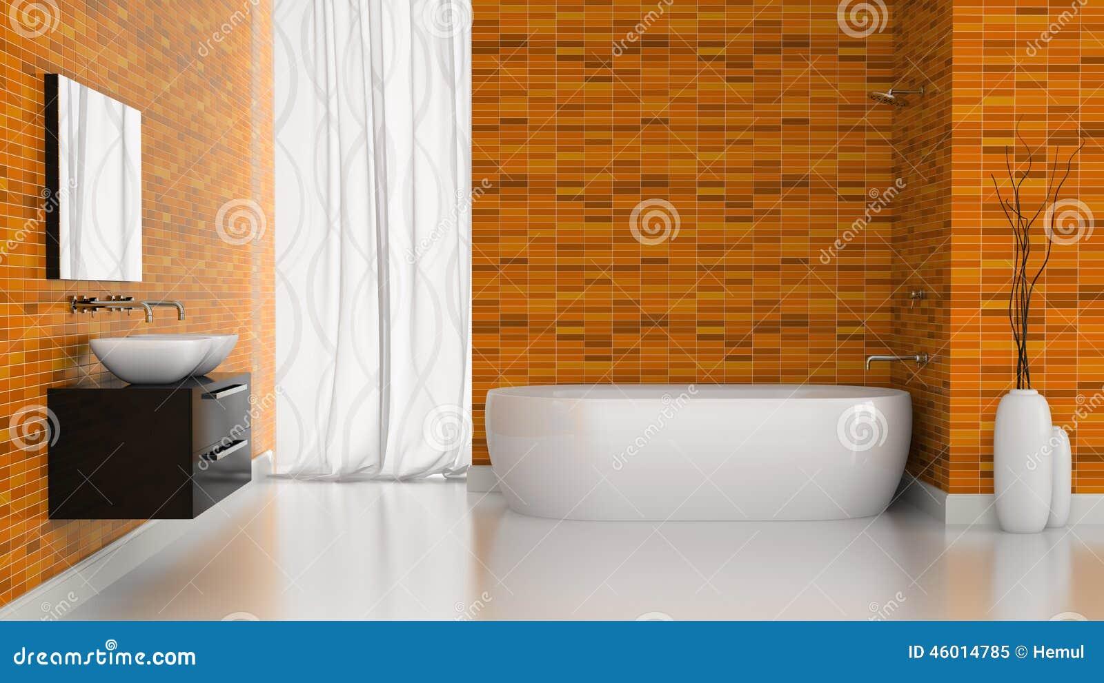 Piastrelle Arancioni Per Bagno idee per una stanza da bagno per bambini eclettica con ante