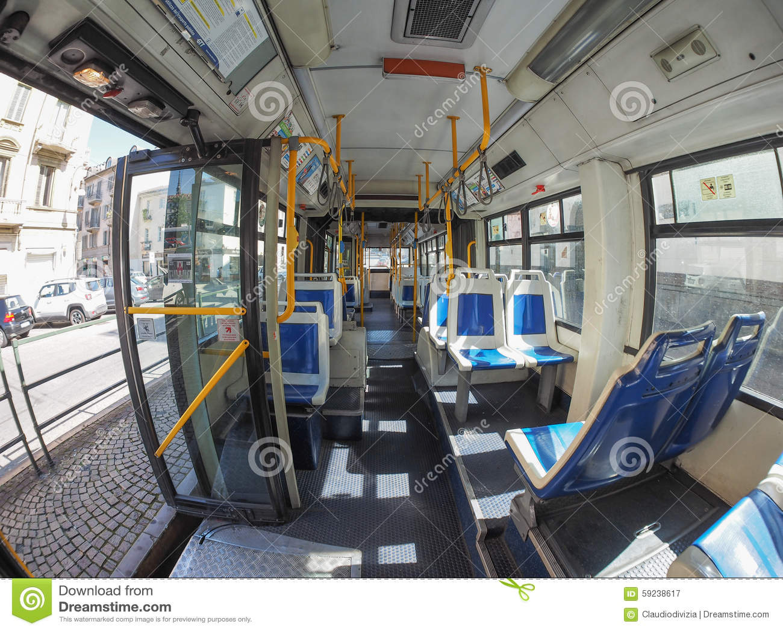 Interno Del Bus A Torino Fotografia Editoriale Immagine
