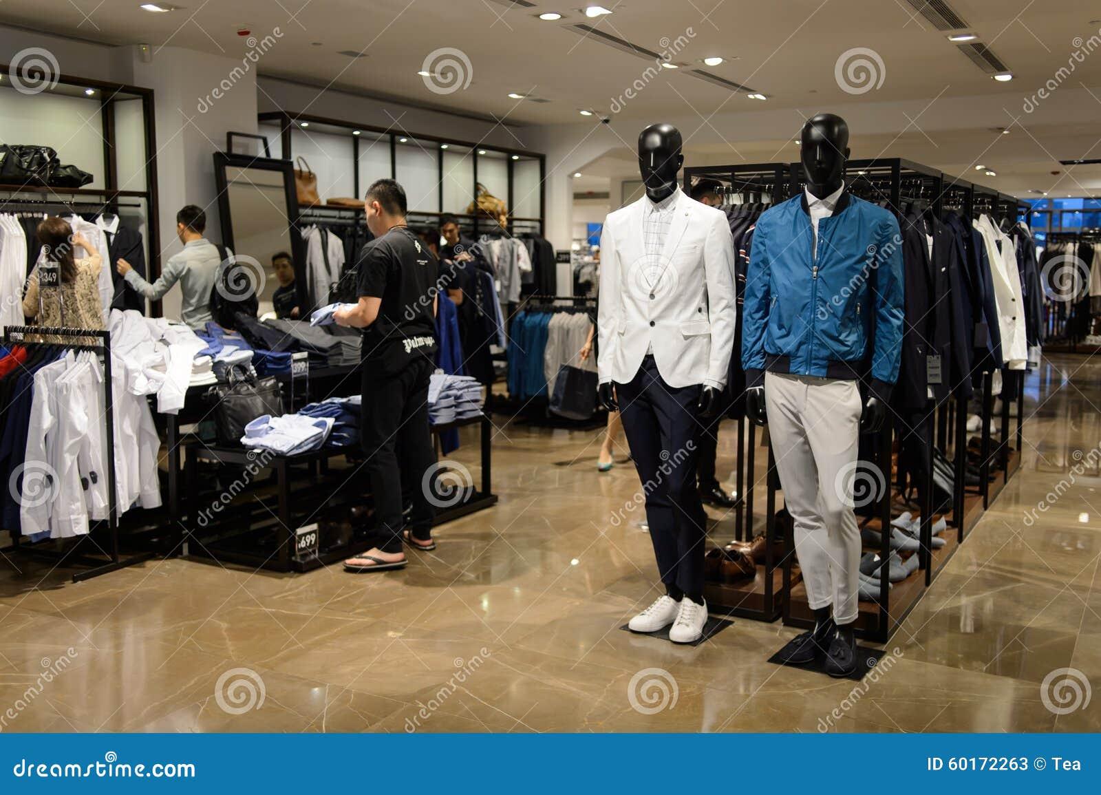 Interno Del Deposito Di Zara Fotografia Stock Editoriale