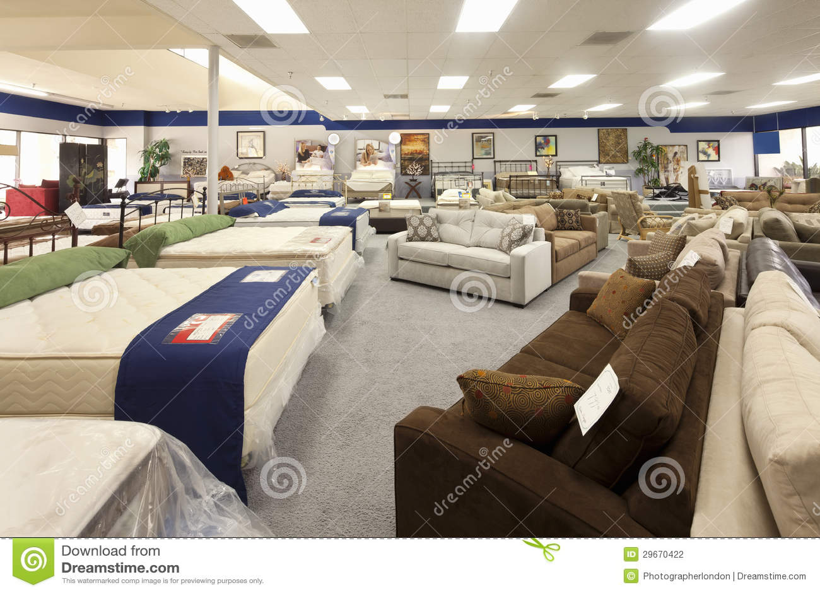 Interno del negozio di mobili fotografia editoriale - Foto di mobili ...
