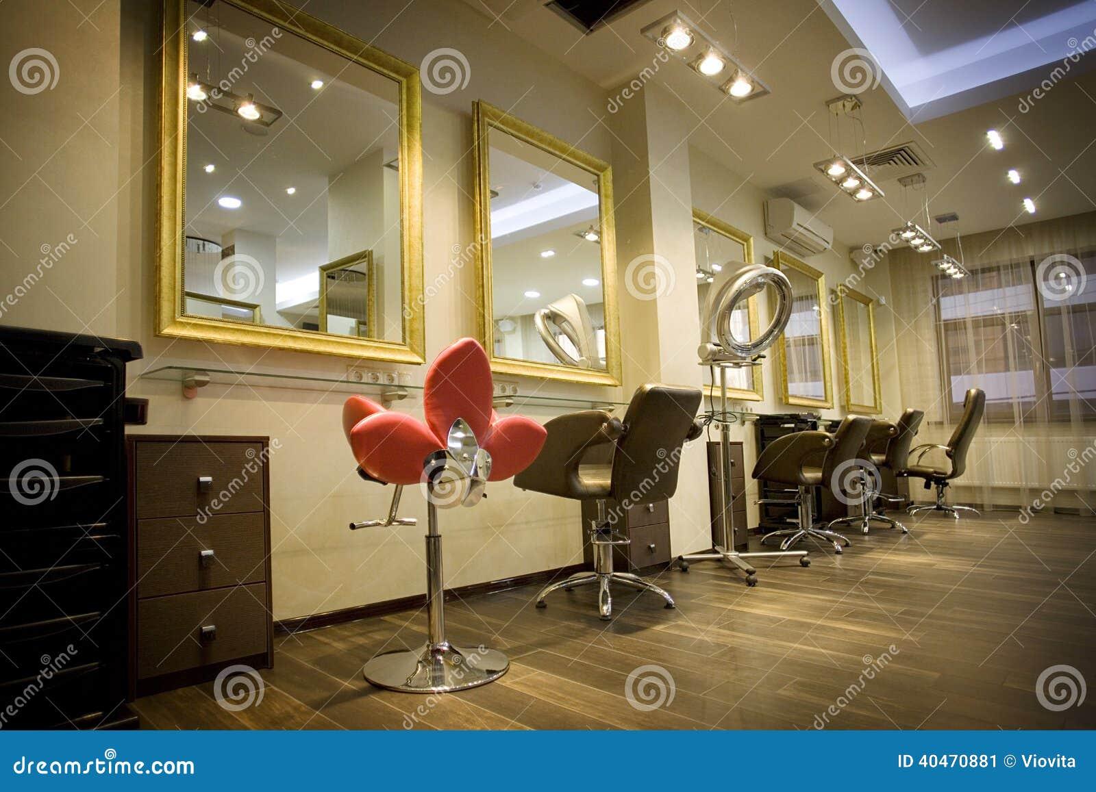 Interno del salone di bellezza immagine stock immagine for Foto di saloni