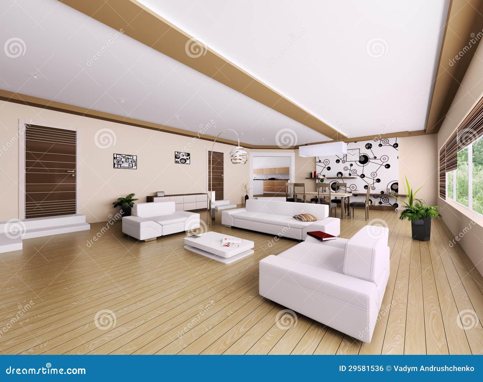 Interno dell 39 appartamento moderno immagine stock libera da for Appartamento moderno