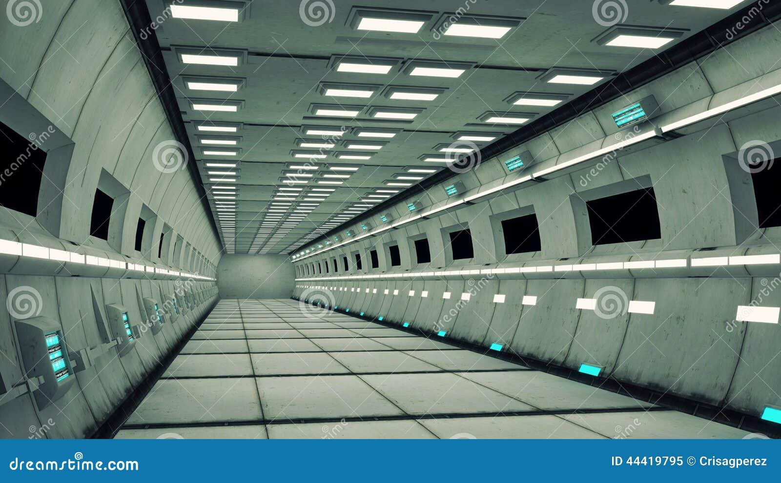 Interior De Ventana De Nave Espacial: Interno Dell'astronave, Vista Concentrare Con Il Pavimento