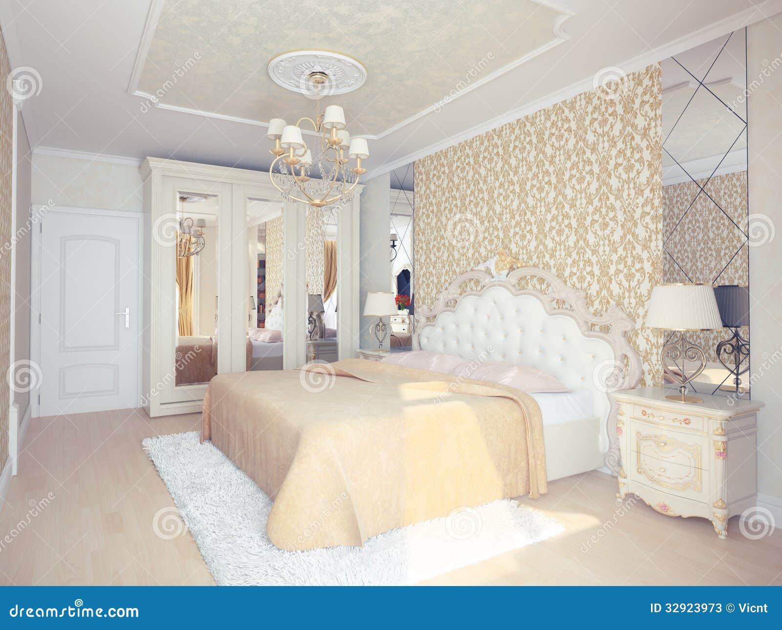 Interno della camera da letto illustrazione di stock - Descrizione della camera da letto ...