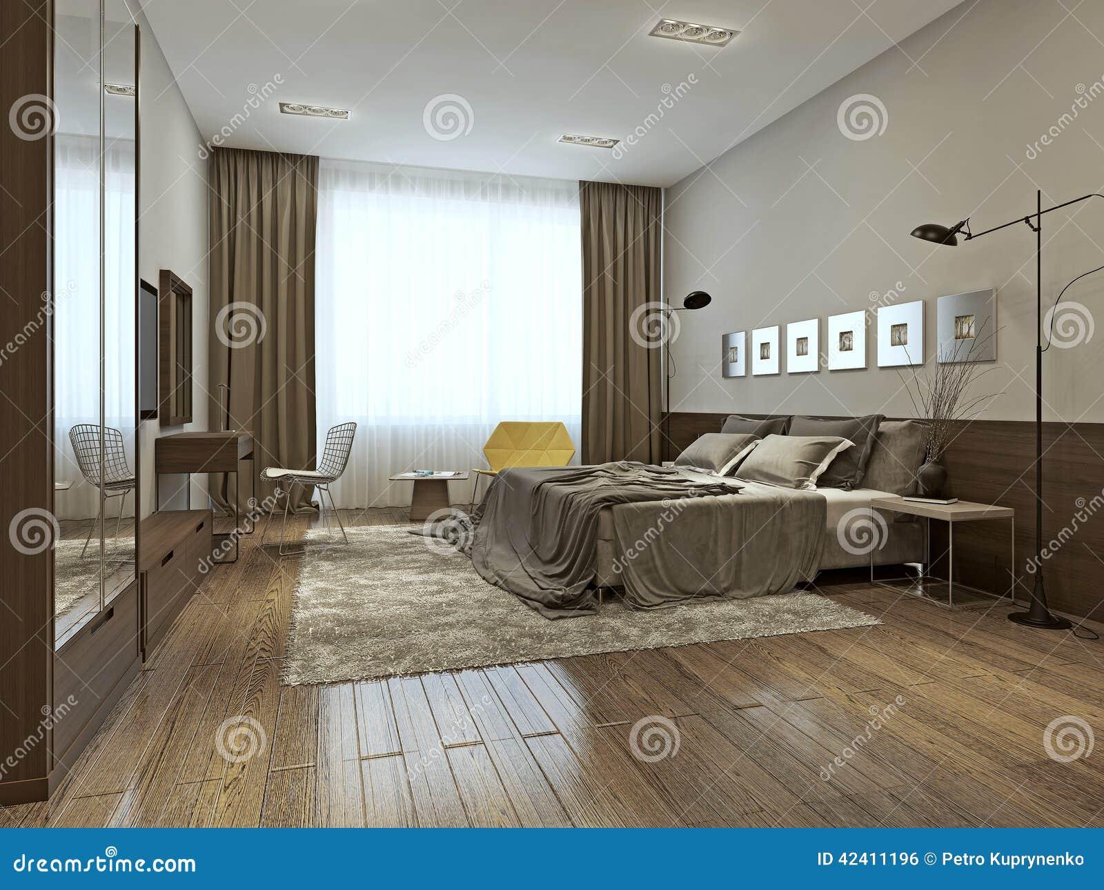 Interno della camera da letto nello stile contemporaneo for Camera da letto stile contemporaneo prezzi
