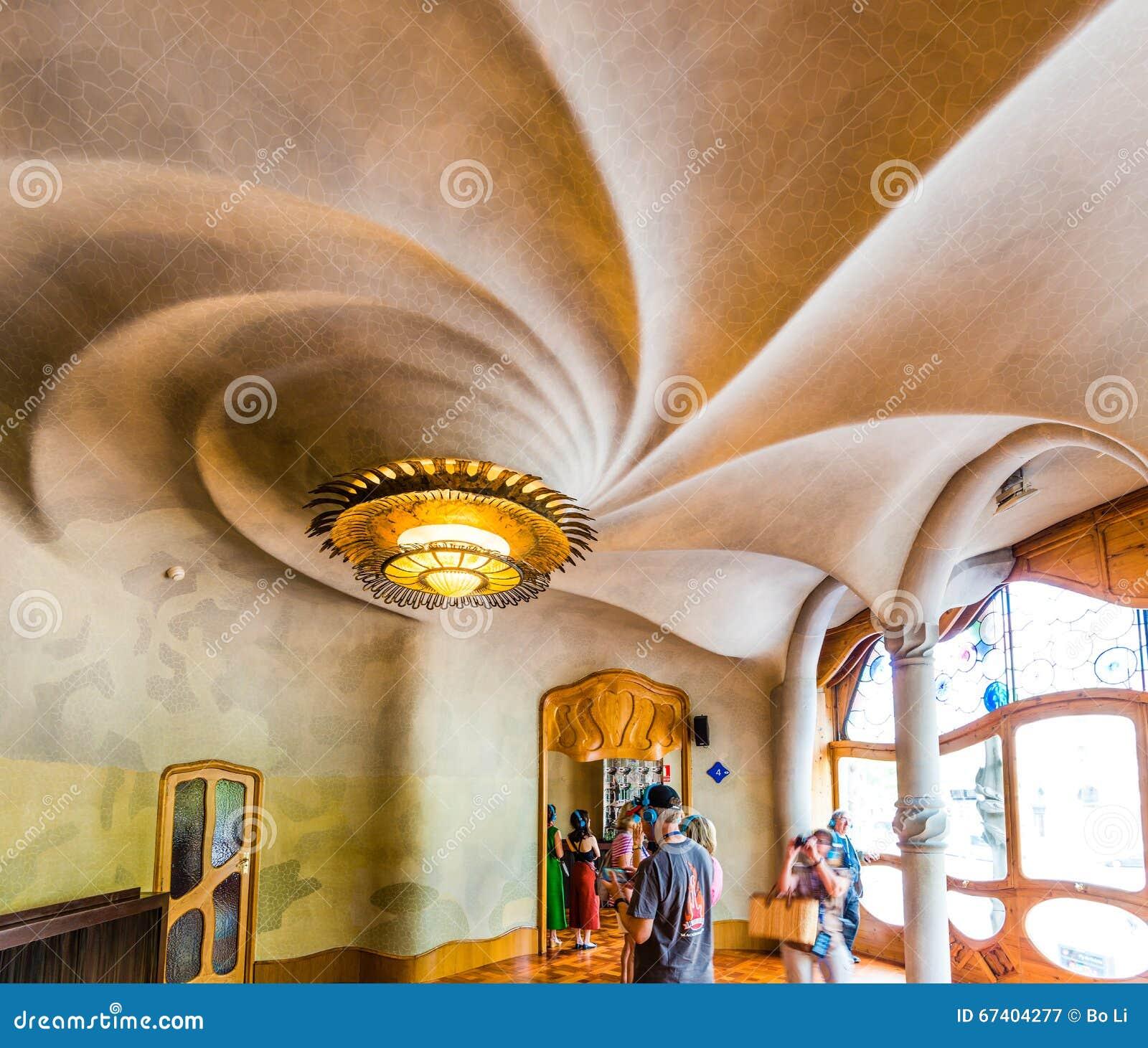 Interno della casa batllo fotografia editoriale immagine for Interno della casa