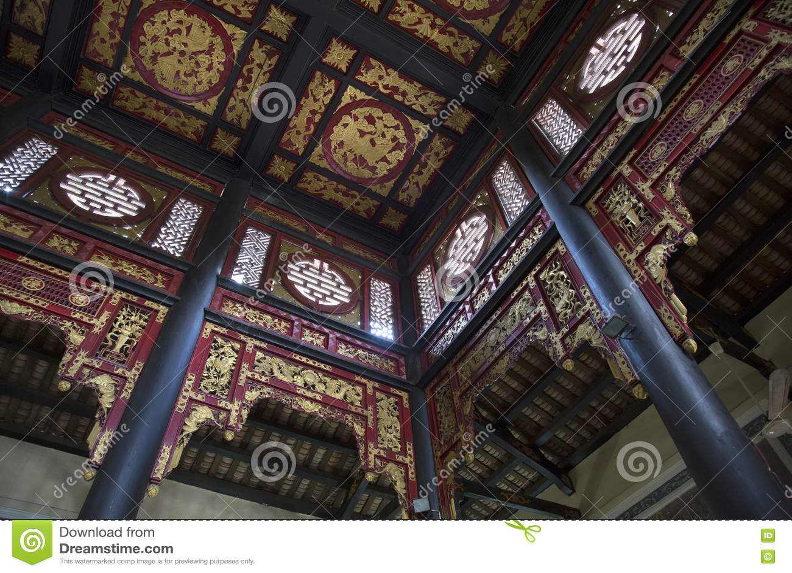 Interno della casa cinese antica immagine stock editoriale for Interno della casa