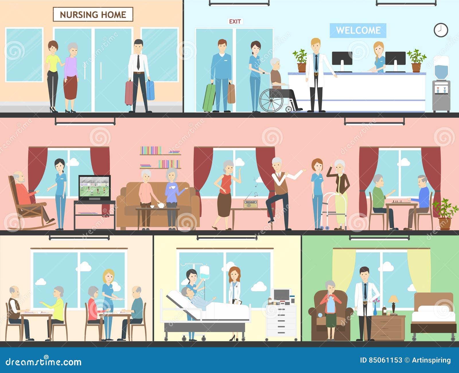 Interno della casa di cura illustrazione vettoriale for Interno della casa