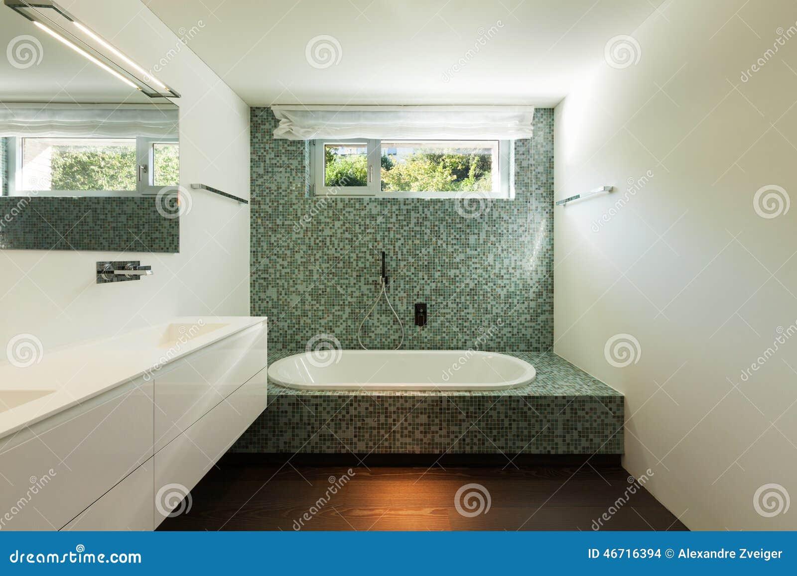 Interno della casa moderna bagno fotografia stock for Bagno della casa moderna